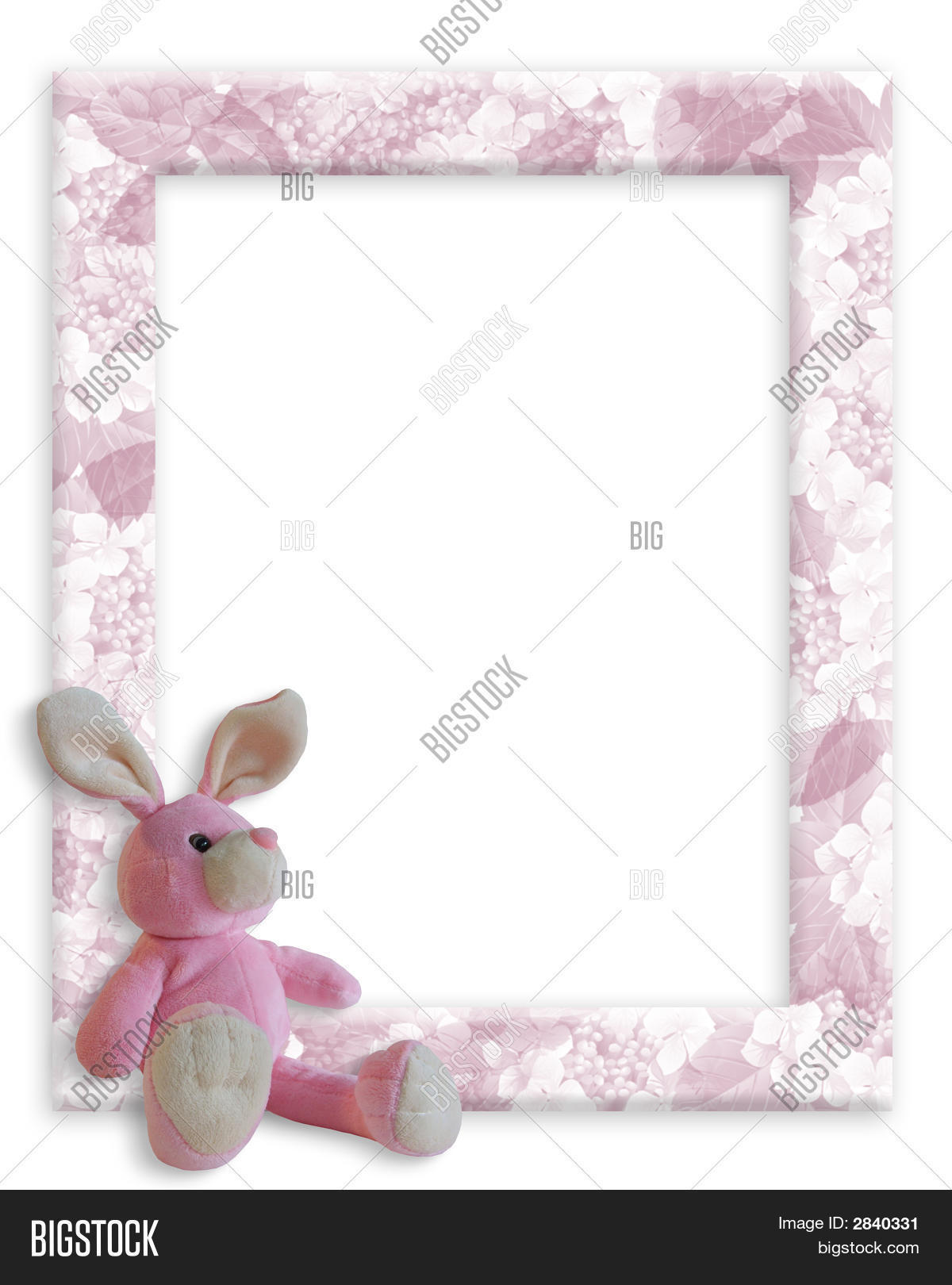 Baby Girl Frame Bunny Image & Photo (Free Trial) | Bigstock
