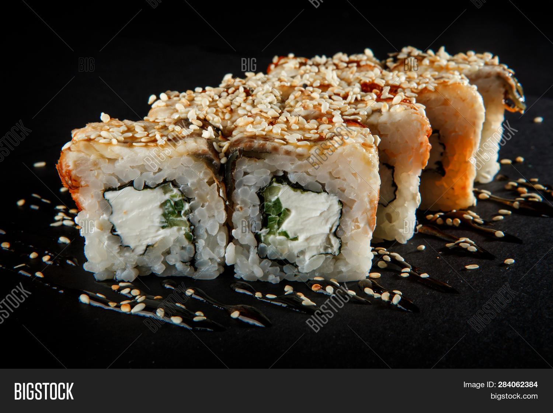 Closeup Japanese Roll Image Photo Free Trial Bigstock