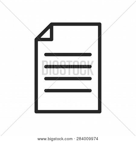 Document Icon Isolated On White Background. Document Icon In Trendy Design Style. Document Vector Ic
