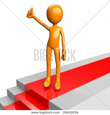 Standing On Stairs