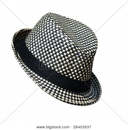 Black and White Hat isolated with clipping path