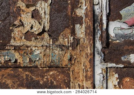 Paintings On Rusty Metal, Metal Corroded Texture, Rusty Metal Background