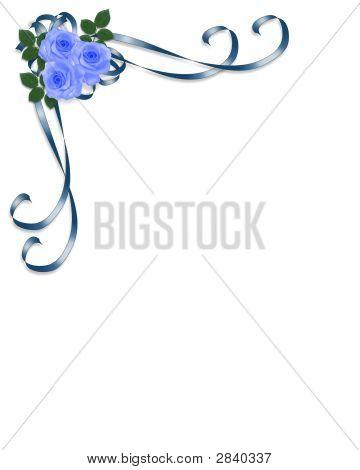 Blue Roses Corner Design 2