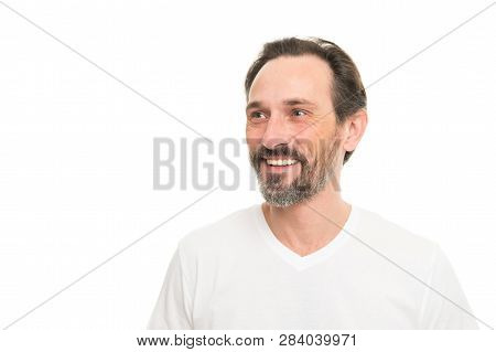 Expert Tips For Growing And Maintaining Facial Hair. Man Bearded Guy With Mustache White Background.