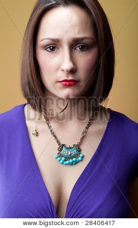 Woman With Furrowed Brow