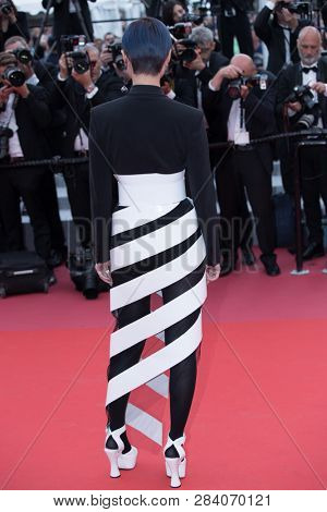 CANNES, FRANCE - MAY 09:  Li Yuchun attends the screening of Yomeddine during the 71st Cannes Film Festival on May 9, 2018 in Cannes, France.