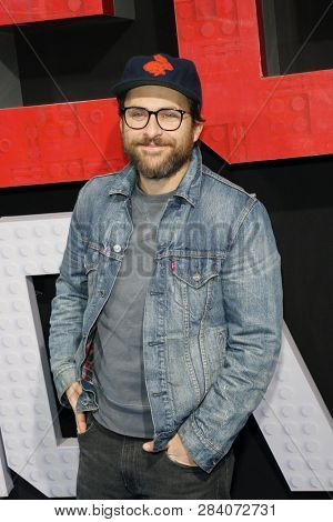 Charlie Day at the Los Angeles premiere of 'The Lego Movie 2: The Second Part' held at the Regency Village Theatre in Westwood, USA on February 2, 2019.