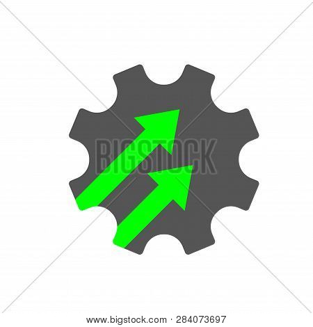 Industry 4.0 Gear Icon Vector Illustration. Cogwheel Sign Industry 4.0, Manufacturing Technology Rev