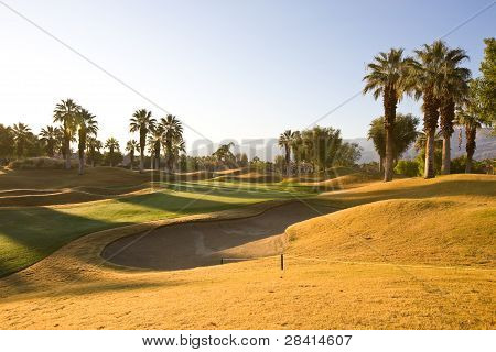 Green on a Golf Course in Palm Springs