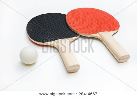 Two Ping Pong Paddles