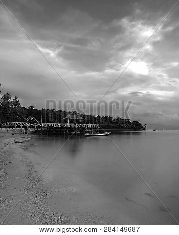 Blackwhite Photo Panorama  Of  Batam Bintan Wonderful Indonesia