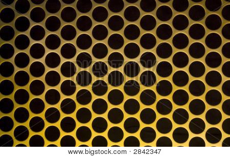 Yellow Grid Circular Background - More In Portfolio