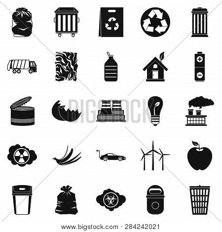 Reserved Place Icons Set. Simple Set Of 25 Reserved Place Icons For Web Isolated On White Background
