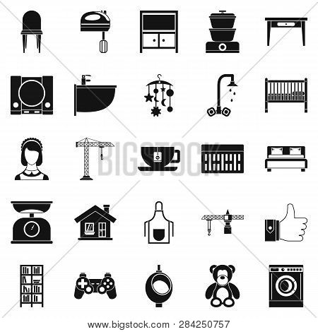 Teahouse Icons Set. Simple Set Of 25 Teahouse Icons For Web Isolated On White Background