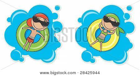 Los niños y niñas en el tubo interno