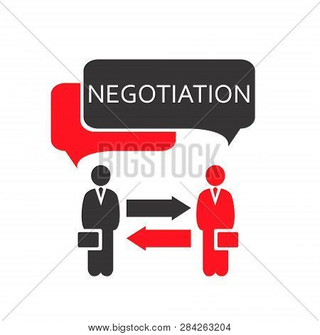 Negotiation Vector Icon. Negotiation Icon Eps. Negotiations Vector Concept.