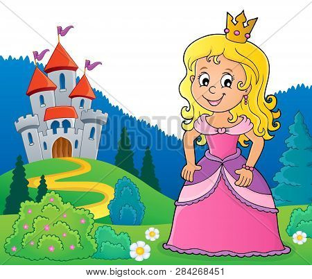 Princess Topic Image 2 - Eps10 Vector Picture Illustration.