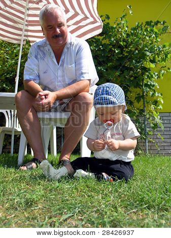 Grandfather and grandsoh