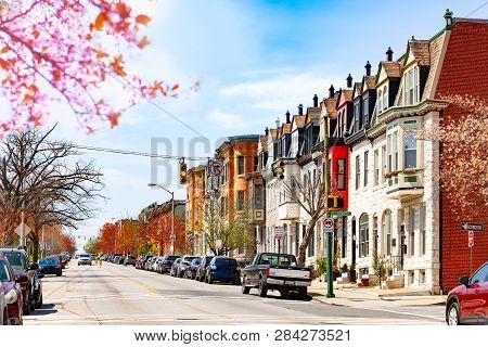 Baltimore Streets In Spring View, Maryland, Usa
