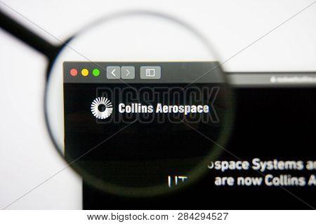 Los Angeles, California, Usa - 14 February 2019: Rockwell Collins Aerospace Website Homepage. Rockwe