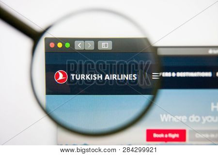 Los Angeles, California, Usa - 14 February 2019: Turkish Airlines Website Homepage. Turkish Airlines