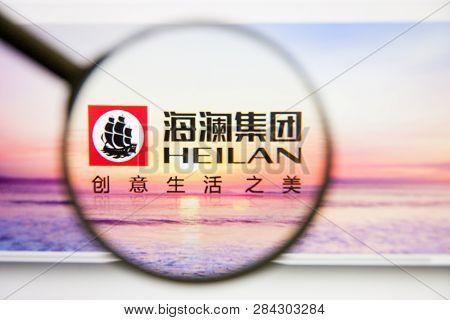 Los Angeles, California, Usa - 14 February 2019: Heilan Home Website Homepage. Heilan Home Logo Visi
