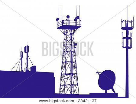 Towers, wired to wireless comm poster