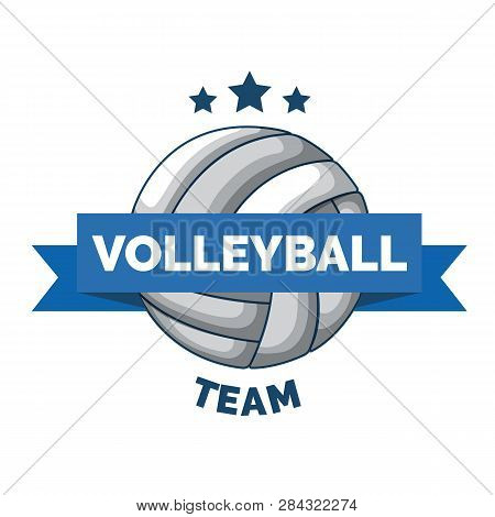 Volleyball Logo Badge Isolated On White Background. Logo Sport Isolated. Volleyball Championship Log