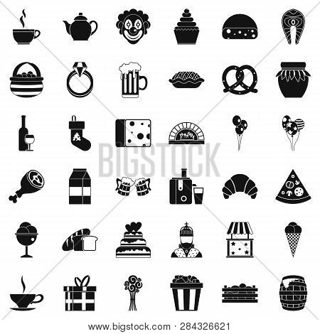 Great bounty icons set. Simple style of 36 great bounty icons for web isolated on white background poster