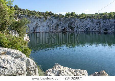 Dragon's Eye Lake In Rogoznica, Croatia
