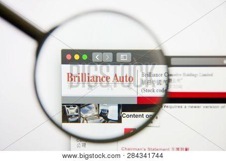 Los Angeles, California, Usa - 14 February 2019: Brilliance China Automotive Holdings Website Homepa