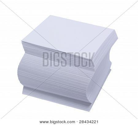 The block of a white scratch paper