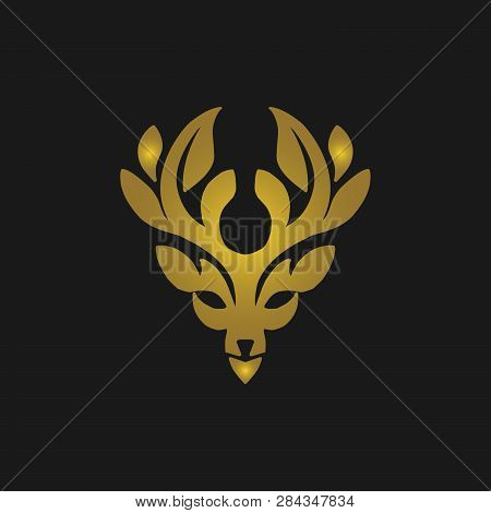 Deer Head Gold Logo Icon. Deer Icon Art. Deer Icon Eps. Deer Icon Image. Deer Icon Logo. Deer Icon S