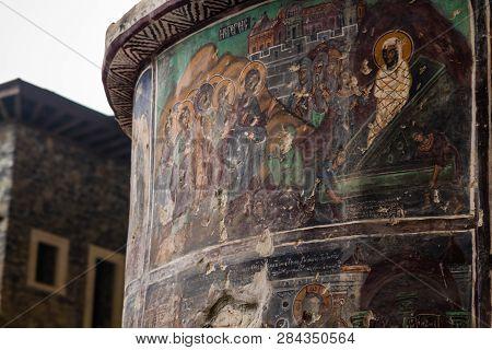 Sumela Monastery Courtyard In Trabzon