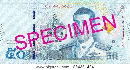 A New 50 Thailand Baht Note Obverse Specimen