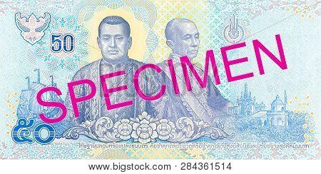 A New 50 Thailand Baht Note Reverse Specimen