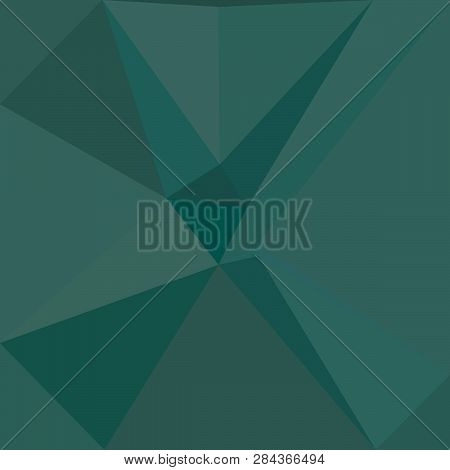 Abstract geometric triangle lilas polygonal teal shaded spruce pattern, triangulation effect paper banner poster