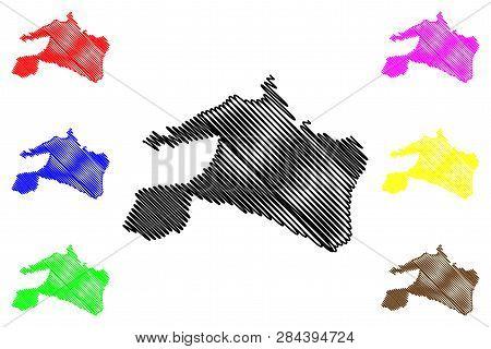 Mai-ndombe Province (democratic Republic Of The Congo, Dr Congo, Drc, Congo-kinshasa) Map Vector Ill