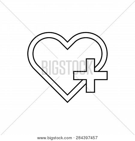 Health Care Icon Isolated On White Background. Health Care Icon In Trendy Design Style. Health Care