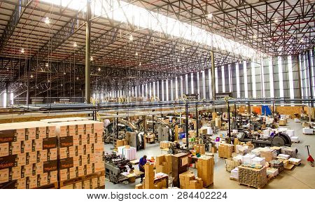 Inside A Printing And Packaging Factory Facility