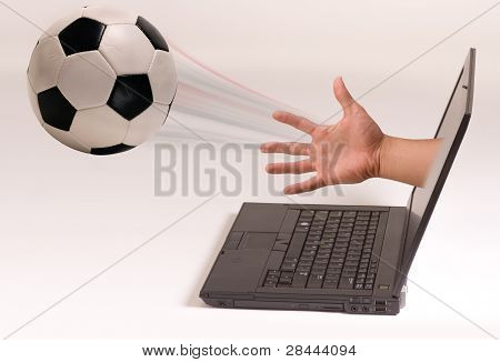 Soccer and Computer Screen