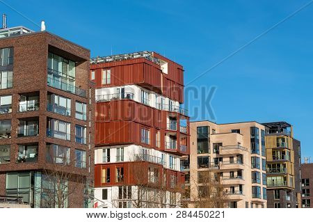 New Apartment Houses In The Hafencity In Hamburg
