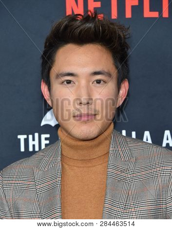 LOS ANGELES - FEB 07:  Justin Min arrives for the Netflix's 'The Umbrella Academy' Premiere - Season 1 on February 07, 2019 in Westwood, CA