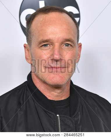 LOS ANGELES - FEB 05:  Clark Gregg arrives for the ABC Winter Press Tour 2019 on February 05, 2019 in Pasadena, CA