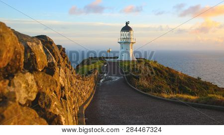 Cape Reinga Lighthouse Is A Lighthouse At Cape Reinga In The Northland Region Of The North Island Of