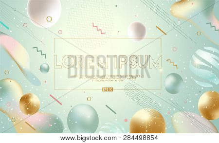 Flowing Soft Shapes Background. Fluid Graphic Elements Composition. Modern, Fresh, Trendy Banner, Po