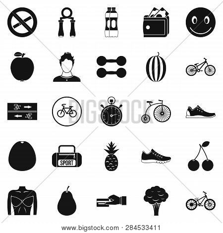 Bicycle Tour Icons Set. Simple Set Of 25 Bicycle Tour Icons For Web Isolated On White Background