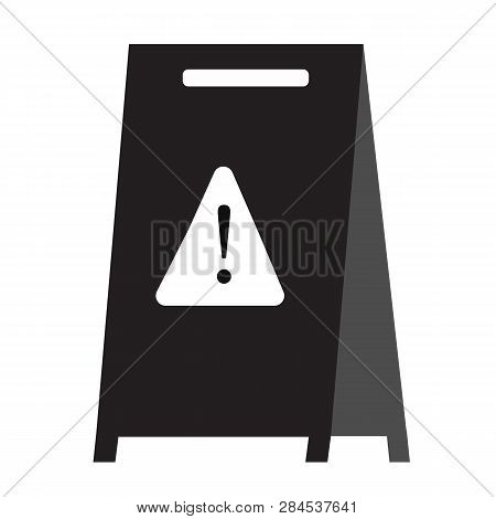 Wet Floor Icon On White Background. Flat Style. Wet Floor Icon For Your Web Site Design, Logo, App,