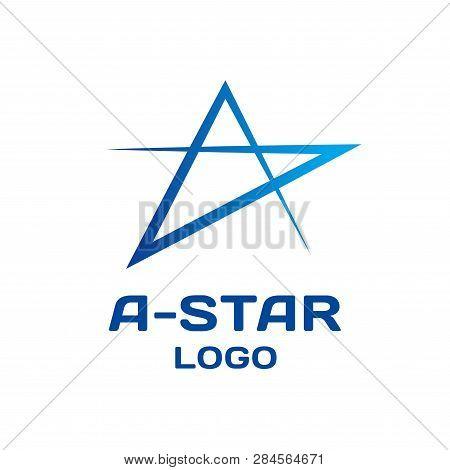 Abstract Star Vector Logo Template. Modern Simple Star Logo Design Branding Corporate Identity.