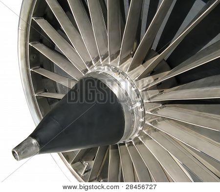 isolated turbofan jet engine inlet